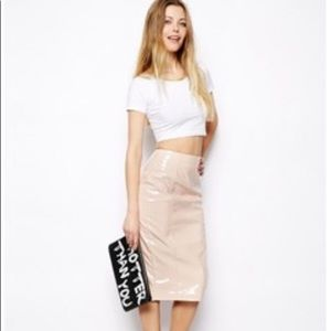 ASOS Skirt in Patent PU Size US 6
